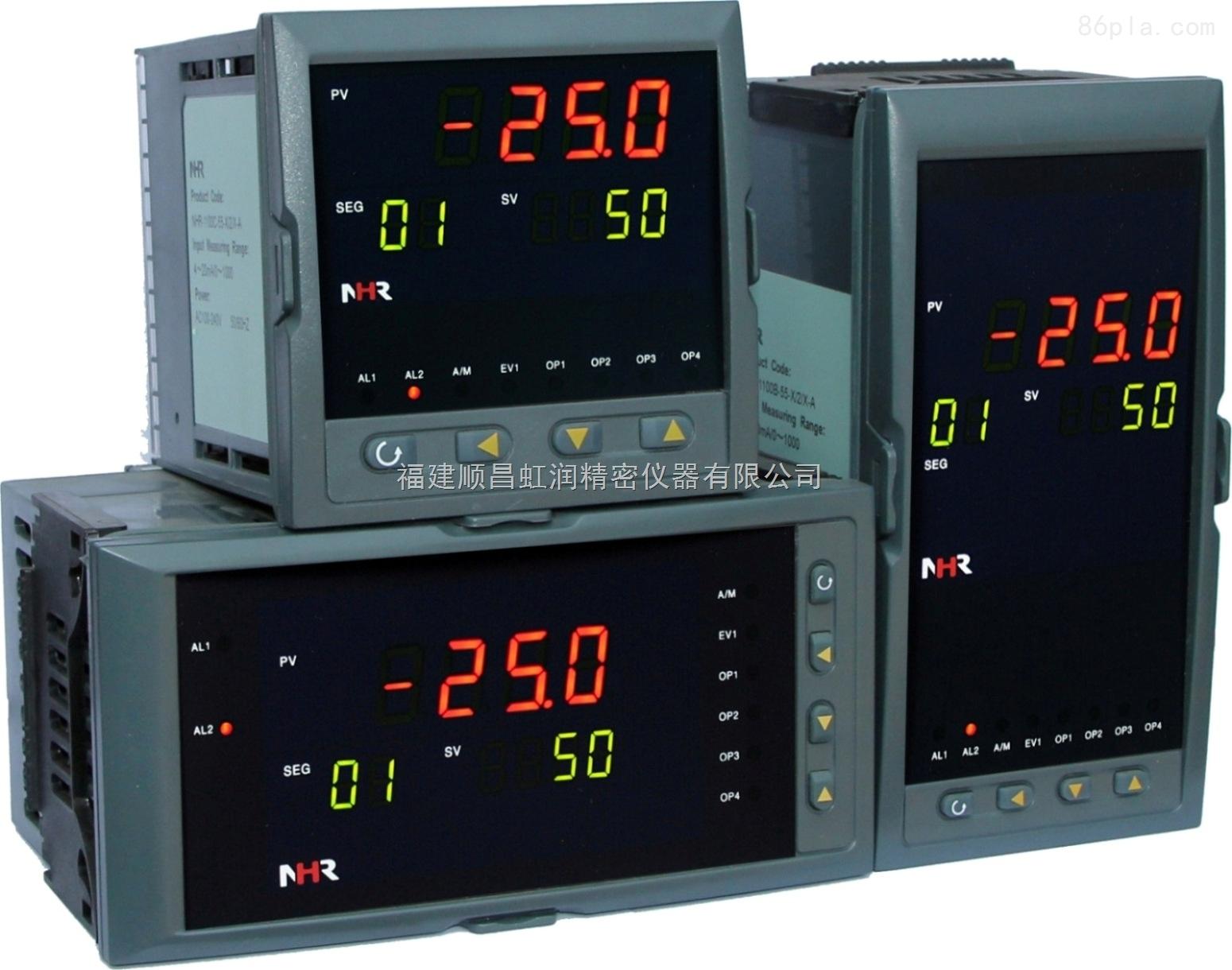虹润推出NHR-5400系列60段PID自整定温控器