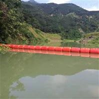 荊竹水庫進水口攔漂排藍藻水草攔截浮筒