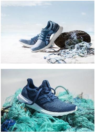 阿迪达斯与parley合作研制海洋垃圾制成运动鞋