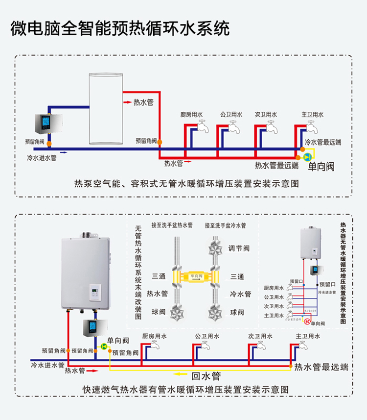 weilo威乐全智能热水循环系统